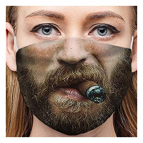 Damen Karneval Mundschutz Multifunktionstuch 3D Druck Lustig Bandana Waschbar Wiederverwendbar Stoff Bedeckung Atmungsaktiv Mund-Nasenschutz Mund Nasen Mit Motiv Halstuch Schals für Herren Damen