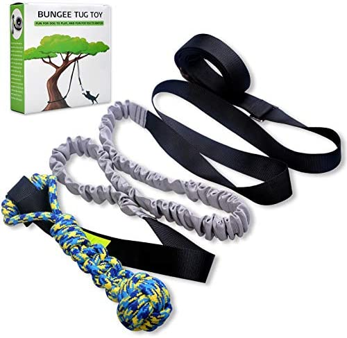 LOOBANI Dog Outdoor Bungee Hanging Toy Interactive Tether Tug Toy for Pitbull Small to Large product image