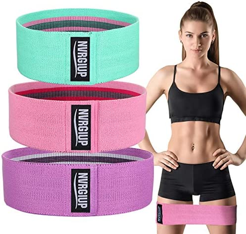 NVRGIUP Exercise Resistance Bands for Legs and Butt Upgrade Thicken Anti Slip Roll Home Gym product image