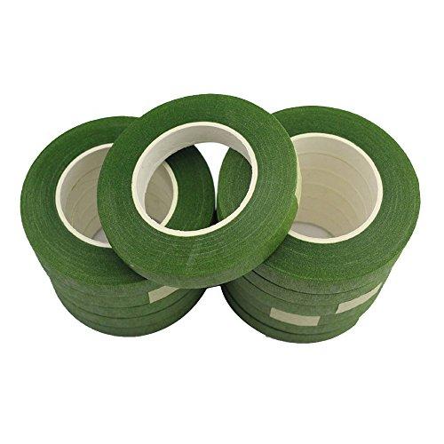 CCINEE %2F2 1, motivo floreale, colore: verde scuro pack of 12