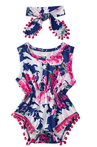 Toddler Kid Babies Girls' Pregnancy Announcement Romper Fall Autumn 100% Cotton Half Birthday Red Flowers Dark Blue Navy Onesie Bodysuit Layette 6-12 Months