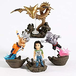 MAI PHUONGass Super Wcd Vol.2 Ultra Instinct Son Goku Android 17 Jiren Super Shenron PVC Figures Collectible Model Toys 4Pcs/Set Toddler Must Haves Boys Favourite Characters