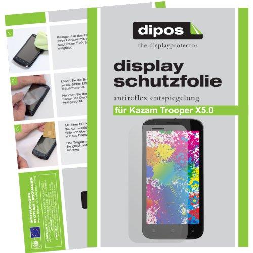 dipos I 2X Schutzfolie matt kompatibel mit Kazam Trooper X5.0 Folie Bildschirmschutzfolie
