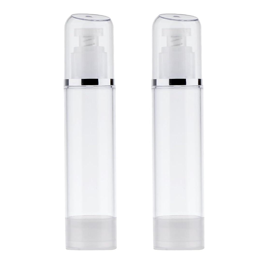 徒歩で展望台塩辛いBlesiya 2個 空ボトル ポンプボトル ローション 化粧品 クリーム ボトル エアレスポンプディスペンサー プラスチック 100ml クリア