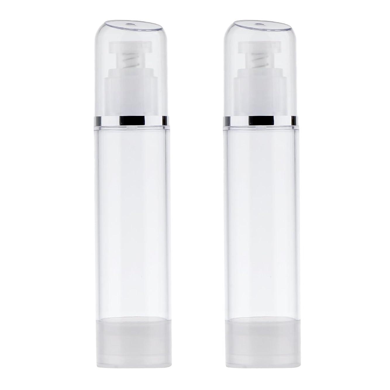 レーザミニチュアゆるいBlesiya 2個 空ボトル ポンプボトル ローション 化粧品 クリーム ボトル エアレスポンプディスペンサー プラスチック 100ml クリア