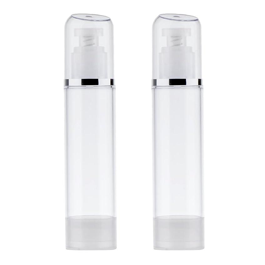 クリスチャン合体熟したBlesiya 2個 空ボトル ポンプボトル ローション 化粧品 クリーム ボトル エアレスポンプディスペンサー プラスチック 100ml クリア