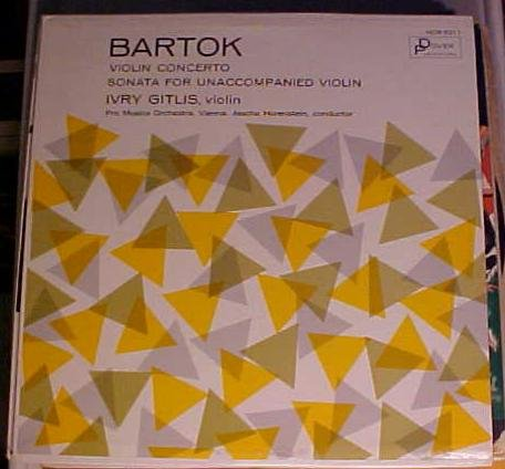 BELA BARTOK Violin Concerto played by IVRY GITLIS Dover HCR 211 [vinyl]