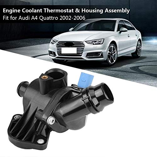 FKYNB Car Auto Motor Koelvloeistof Thermostaathuis Assembly 06B121111K for Audi A4 Quattro 2002 2003 2004 2005 2006 Auto accessoires