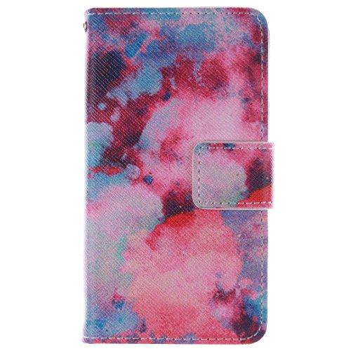 Sony Xperia E1 Hülle Coozon Premium PU Leder Hülle Ledertasche Flip Cover Für Sony Xperia E1 Schutzhülle Hülle Tasche mit Ständerfunktion & Kartenfächer (4.0 Zoll)