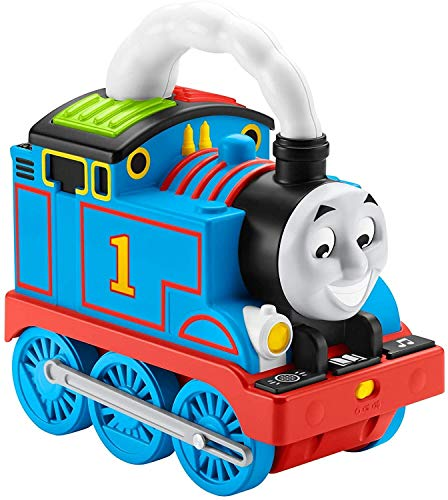 Thomas & Friends Storytime Thomas, interactive push-along train with lights, music and stories for toddlers and preschool kids ages 2 years and older, Multicolor, GPD83