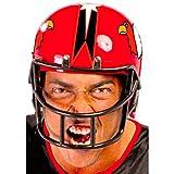 casco rugby disfraz rojo