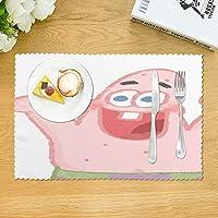 『4枚セット』パトリック スポンジボブ ランチョンマット 食卓マット プレースマット 撥水 断熱 滑り止め 給食 アニメ キャラクター かわいい 男の子 女の子 子供用 キッズ こども