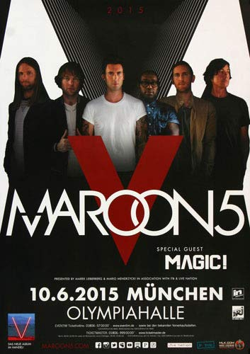 Maroon 5 - This Summer Muc 2015 - Poster, Concertposter, Concert