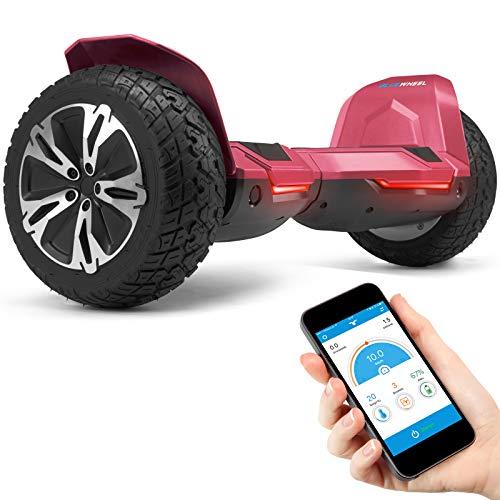 """8.5\"""" Premium Offroad Hoverboard Bluewheel HX510 SUV Deutsche Qualitäts Marke- Kinder Sicherheitsmodus & App - Bluetooth - Starker Dual Motor - Elektro Skateboard Self Balance Scooter (HX510_RED)"""