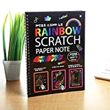 Scratch notepad feature bright colors and patterns hidden beneath a matte coating, plus a wooden stylus to reveal them with just a simple scratch Scratch The Paper with The Provided Scratch Tool - This Will Reveal Vibrant Colors Underneath. Perfect f...