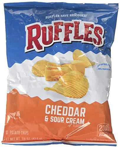 Ruffles Ridged Potato Chips, Cheddar & Sour Cream, 1.5 oz