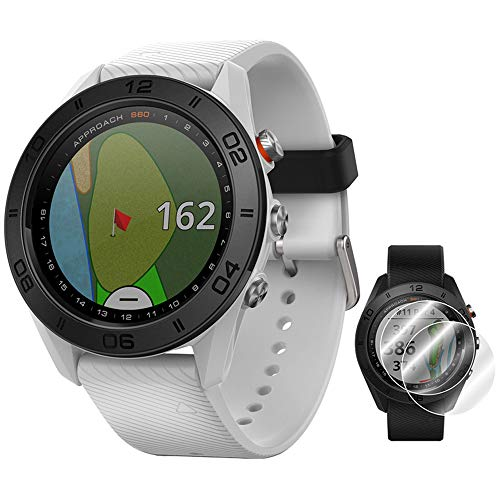 %6 OFF! Garmin Approach S60 Golf Watch White with White Band (010-01702-01) + Deco Essentials Approa...