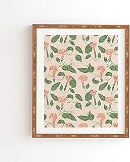 """Deny Designs Holli Zollinger Bamboo Framed Wall Art, 11"""" x 13"""", Desert Moonflower"""