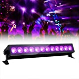 12 LED Black Light,GLIME 36W LED UV Bar Glow in The Dark Party Supplies for Christmas Blacklight Party Birthday Wedding Stage Lighting,Material Metal Iron