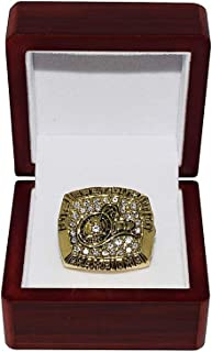 TORONTO ARGONAUTS (Doug Flutie) 1996 GREY CUP CHAMPIONS Canadien Football League Rare Collectible Gold CFL Replica Championship Ring with Cherrywood Display Box