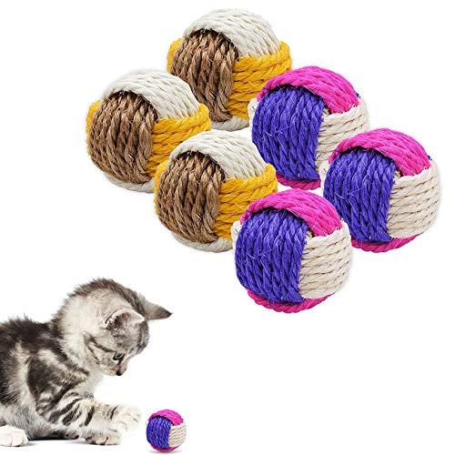 Palline per Gatti Interattive,Animali Domestici Gatti Palle,Masticare la Palla per Gatti,Giochi Interattivi Gatto con Palle,Sfera per Tiragraffi per Gatti,Giocattoli per Gatti