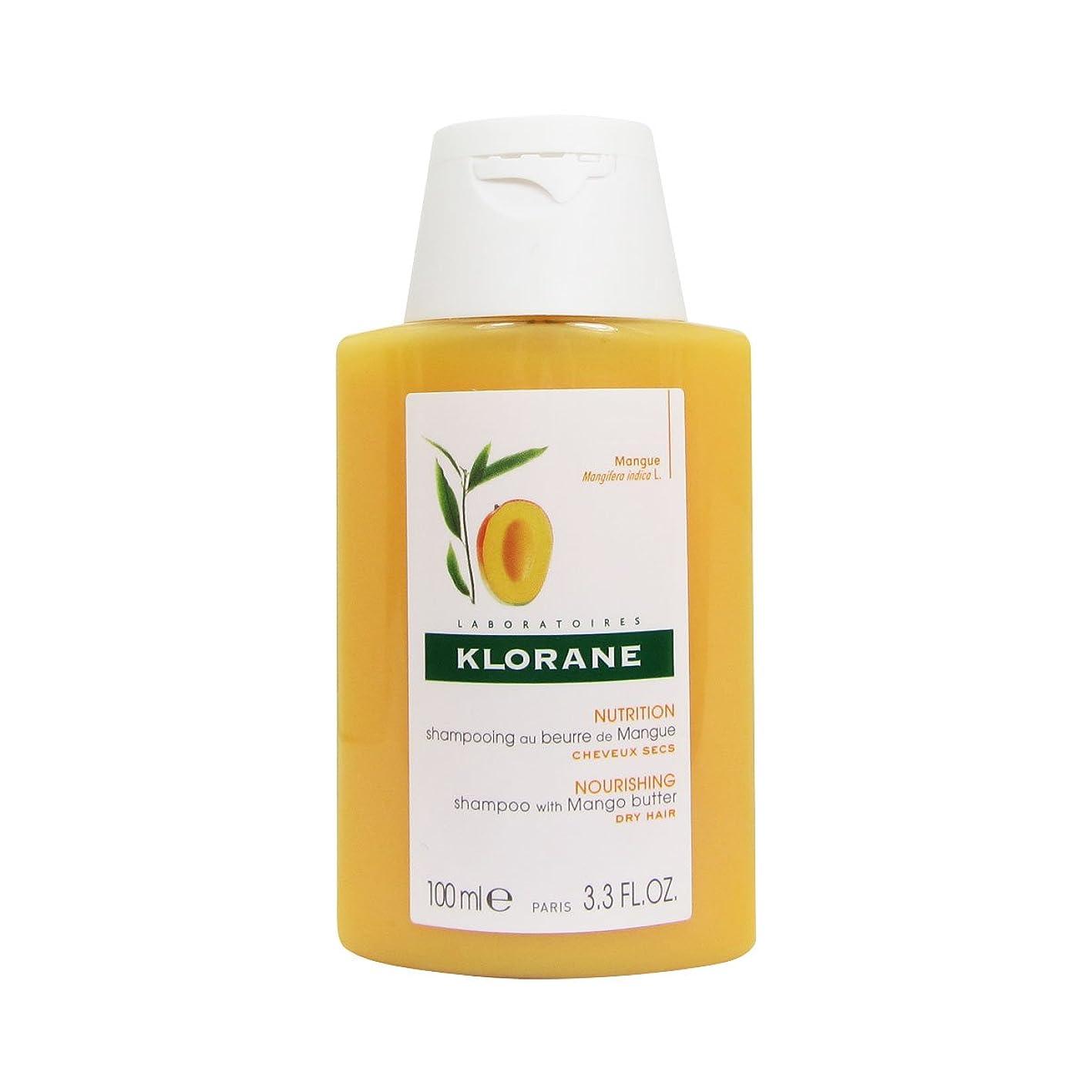 消費日曜日解決Klorane Mango Butter Shampoo 100ml [並行輸入品]