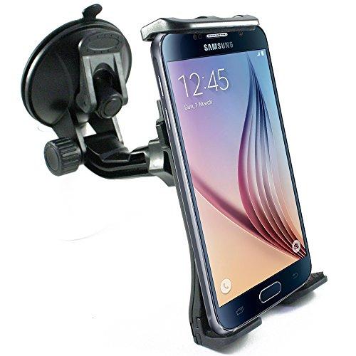scozzi KFZ Handyhalterung Auto Saugnapf Scheibe Handyhalter fürs Auto Handy Halterung Halter Autohalterung universal zB kompatibel mit Samsung S10 S10e S9 S8 plus/A80 A70 A51 A50 A5/iPhone 11 X XR XS