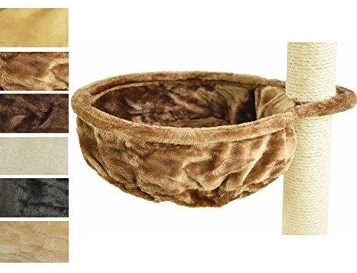nanook Kratzbaum Liegemulde für kräftige Katzen - Größe XL - 40 cm Ø, Tiefe 12 cm - Hellbraun