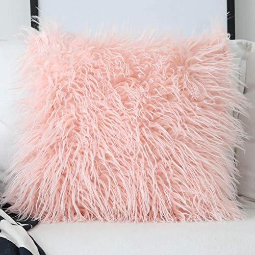 Kussen zitkussen orthopedisch rugkussen, zitkussen voor bed en bank   rugsteun Cushion Simulative Wool Pillowcase Without Pillow Core – 4545 cm kussen zitkussen