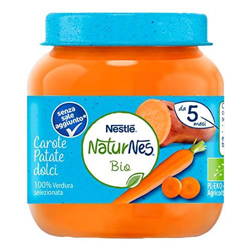Nestlé Naturnes Omogeneizzato di Verdure Carote e Patate Dolci da 5 Mesi, 12 Vasetti da 125 g