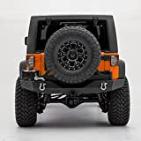 GSI Rock Crawler Full Width Rear Bumper with Tire Carrier, 2' hitch receiver for...