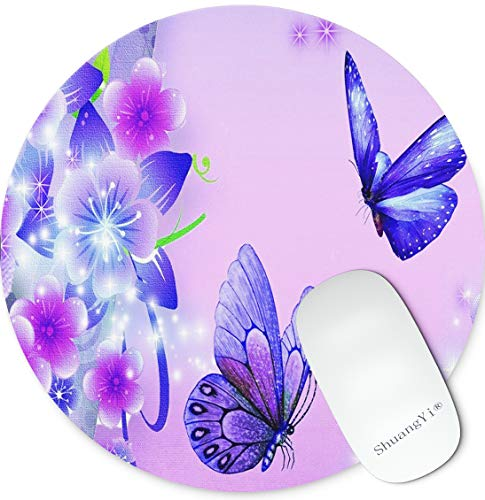 Shuangyi Purple Butterfly Customized Rectangle Mousepad Round Mouse Pads for Computers Laptop