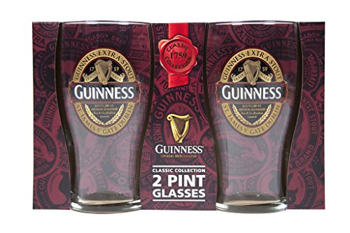 "Guinness 2 Pack Pint Gläser - Ruby Rot Collection""New für 2017"""