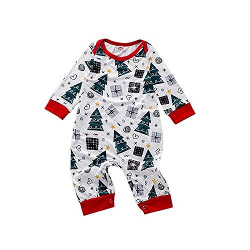 BIBOKAOKE Conjunto de ropa familiar para Navidad, con blusa, árbol de Navidad, a cuadros, pantalones largos, pijamas, para hombre y mujer, para niños, para Navidad, Holiday Para bebé. XL