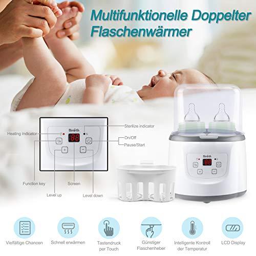 Baby Bottle Warmer Flaschenwärmer Flaschen Sterilisator 4 -in -1 Intelligenter Flaschenwärmer und Baby-Lebensmittel-Heizungsgerät für Muttermilch oder Babymilchpulver mit LCD-Echtzeit Anzeige Schnelle Erwärmung und genaue Temperaturkontrolle - 2