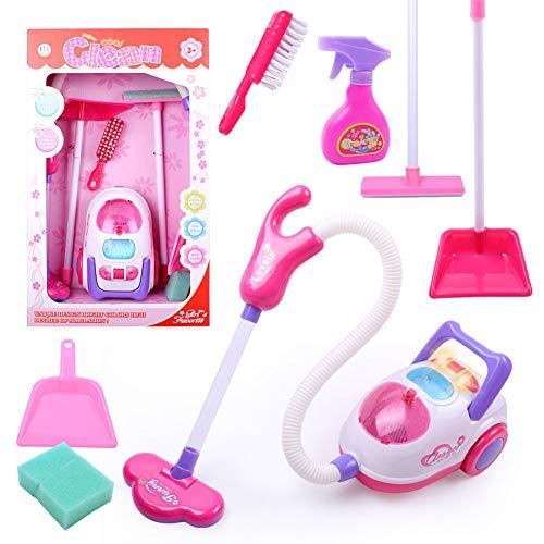 Metermall Home Chirstmas-cadeau voor kinderen Reinigingsgereedschap Speelgoed Stofzuiger Reinigingsset Speelhuisspeelgoed