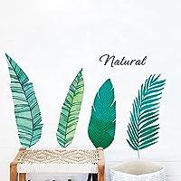 ノルディックスタイルの緑の葉の壁のステッカー寝室のリビングルームワードローブの装飾的な美術の壁紙自宅の装飾ステッカー植物の壁紙