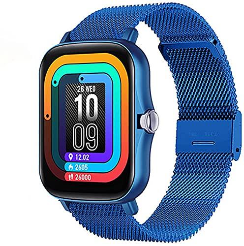 Smart Watch Ladies 1,7 Pulgadas Presión Arterial Tasa del corazón Smart Watch Fitness Tracker Watch Pedómetro Impermeable Hombre Smart Watch P8 Plus para Android iOS (Color : H)