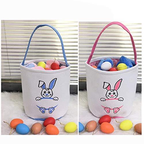 Easter Basket for Kids Easter Bunny Bag Easter Decorations (# Pink+ Purple 1)