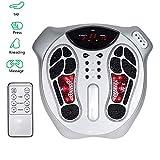 Airser Masseur De Pieds Stimulateur Circulatoire - 99 Types D'intensité des Ondes électromagnétiques, 15 Modes De Massage Masseur De Pieds Shiatsu avec Télécommande