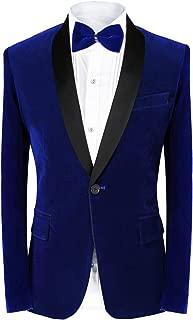 Men's 2 Piece Suit Peaked Lapel One Button Tuxedo Slim Fit Velvet Blazer Party Dinner Jacket & Pants