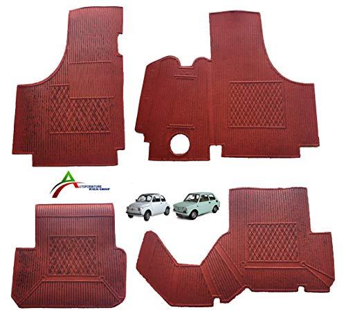 Autoforniture italia TAPPETI TAPPETINI in Gomma for Vecchia 500-126 Colore Rosso