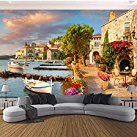 xueshaoWall Murals Wallpaper Winter Snow Tree Road Living Room TV Backdrop Painting Wall Covering Wall Papers Home Decor