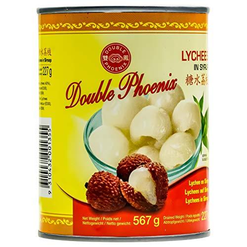 Double Phoenix Lychees in Sirup - 3x 567g Dose - leicht gezuckert eingelegte Litschis in Saft Litschi-Dose Litschifrucht Obstkonserve vegan glutenfrei schonend verarbeitet