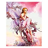 (40 x 50 cm) Square Diamond Painting Full Drill Kit de Pintura de Diamante Cuadrado 5D para Adultos Mariposa Hada de Cristal para Manualidades Decoración del Hogar Oficina Regalo de pared