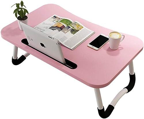 OaLt-t Mini Klapptisch faul tragbaren Tisch Klapptisch Schlafsaal Studie Schreibtisch Laptop-Tisch (Farbe   Rosa)
