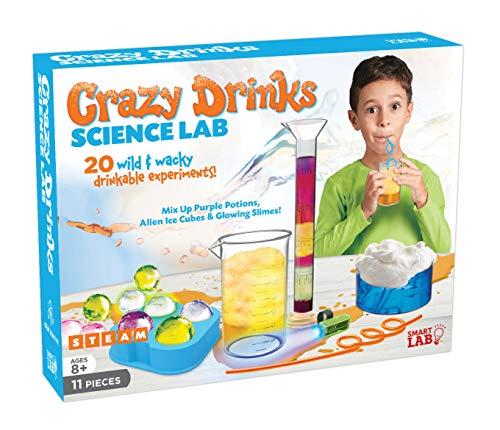 SmartLab Toys Crazy Drinks Science Lab - 11Piece - 20 Experiments - Includes UV Light & 2 Crazy...