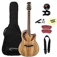 Ovation オベーション CE44P-SM エレアコ Bundle, Spalted Maple アコースティックギター アコギ ギター (並行輸入)