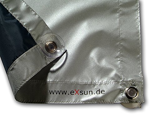 eXsun Sonnenschutz für Velux & Roto Dachfenster | Ohne Bohren mit Saugnäpfen *KraftHaftSauger Made in Germany!* | | Rollo Braas | Fakro | Verdunklungsrollo - Größe: Roto 13/14 = 112x118cm