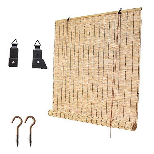 Pabellón del Patio Pergola Persiana De Caña Bambu Exterior, Personalizable Toldo Vertical, Color Natural Estores para Ventanas, Las Sombras Hacen Que La Gente Se Sienta Bien, Fácil De Instalar